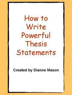 A thesis statement should be placed in the