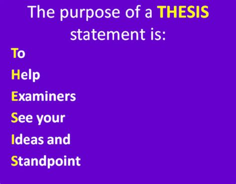 Where is the thesis statement placed - answerscom